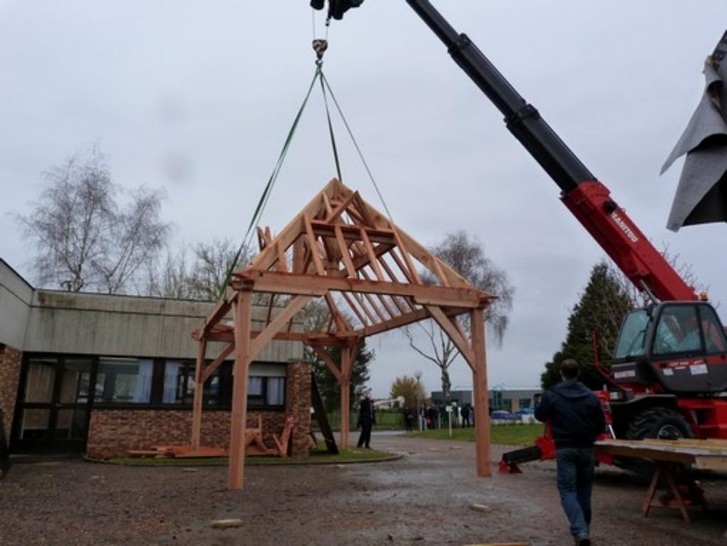 Bac Pro Constructeur Bois - Lycée George Sand La Ch u00e2tre Animation spectaculaire pour les Portes Ouvertes 2014